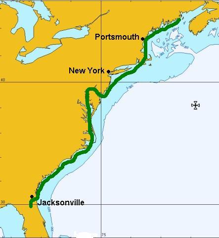 East Coast USA Map - Us navigable waterways map