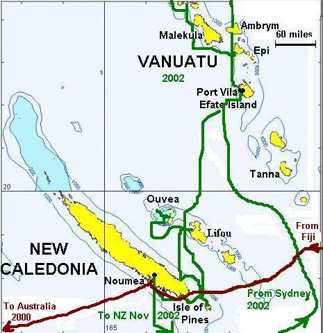 New Caledonia Vanuatu Map